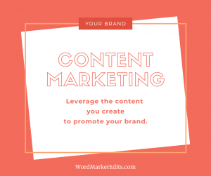 "taped note that says: ""Content Marketing: leverage the content you create to promote your brand."""